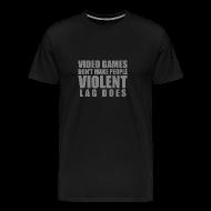 T-Shirts ~ Men's Premium T-Shirt ~ Video games don't make people violent