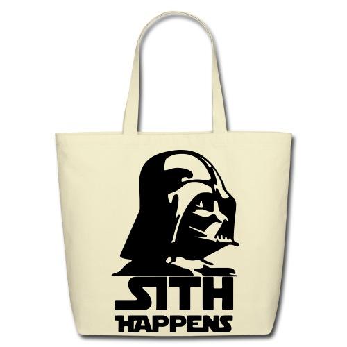 Darth Vader 'Sith Happens' tote - Eco-Friendly Cotton Tote