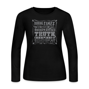 Orwell Revolutionary Act - Women's Long Sleeve Jersey T-Shirt