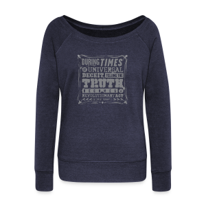 Orwell Revolutionary Act - Women's Wideneck Sweatshirt