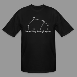 Better Living Through Syntax - Men's Tall T-Shirt