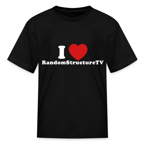 Kid I Heart RSTV 1 Black - Kids' T-Shirt