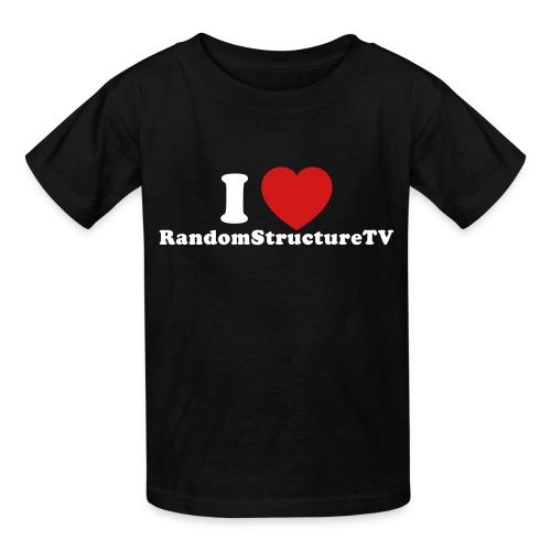Kid I Heart RSTV 1 Black - Kids' T-Shirt