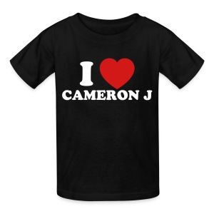 Kid I Heart Cam 1 Black - Kids' T-Shirt