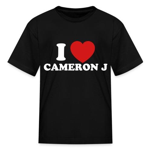 Kid I Heart Cam 1 Black - Kids' T-Shirt