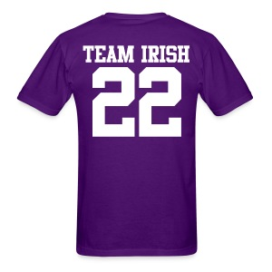 Team Irish 22 (Back) (White) Men's T-Shirt - Men's T-Shirt