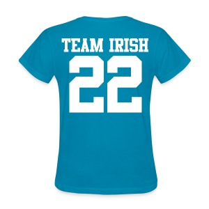 Team Irish 22 (Back) (White) Women's T-Shirt - Women's T-Shirt