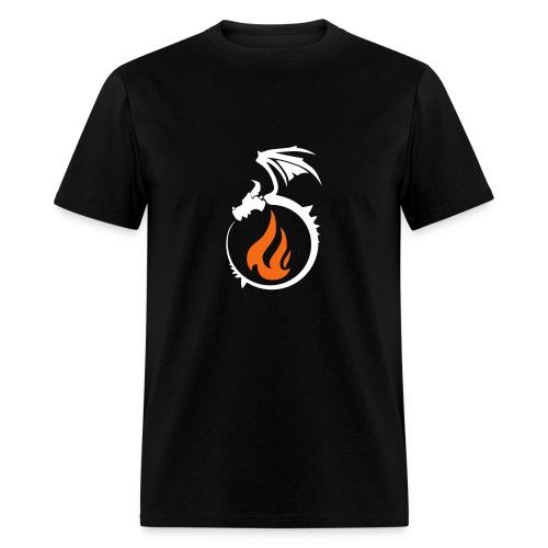 Fire Dragon Flame Logo - Men's T-Shirt