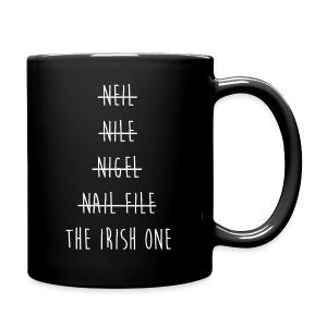 The Irish One Strikethrough (White) Mug - Full Color Mug