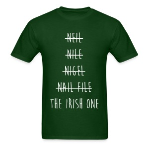 The Irish One Strikethrough (White) Men's T-Shirt - Men's T-Shirt