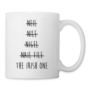 The Irish One Strikethrough Mug - Coffee/Tea Mug
