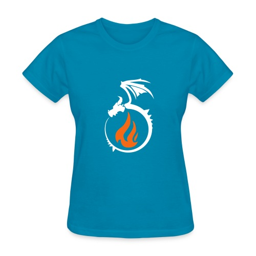 Fire Dragon Flame Logo - Women's T-Shirt