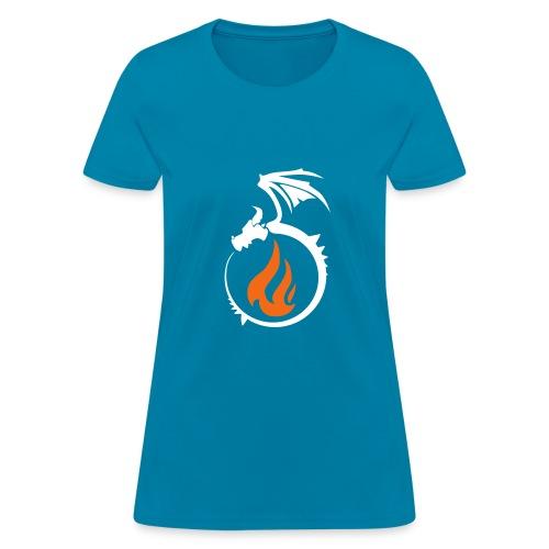 Fire Dragon Flame Logo - Women's T-Shirt