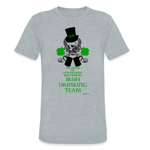 The LOEBD Irish Drinking Team Unisex Tri-Blend T-Shirt - Unisex Tri-Blend T-Shirt