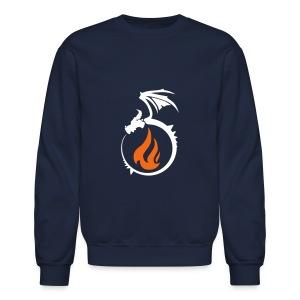Fire Dragon Flame Logo - Crewneck Sweatshirt