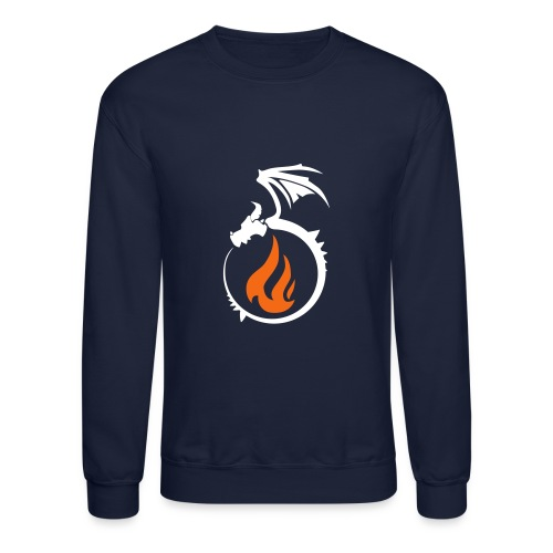 Fire Dragon Flame Logo - Crewneck Sweatshirt