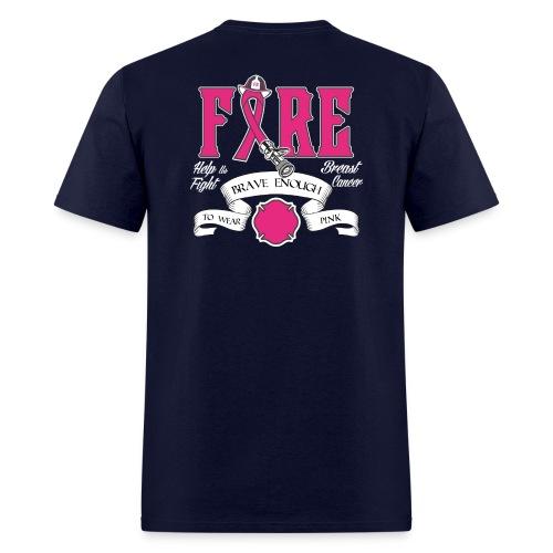 Firefighter Breast Cancer Shirt - Men's T-Shirt