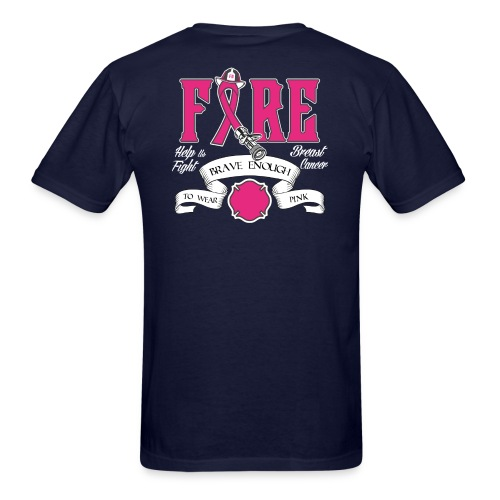 Firefighter Breast Cancer Shirt - Men's T-Shirt
