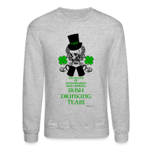The LOEBD Irish Drinking Team Men's Crewneck Sweatshirt - Crewneck Sweatshirt