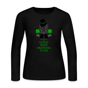 The LOEBD Irish Drinking Team Women's Long Sleeve T-Shirt - Women's Long Sleeve Jersey T-Shirt