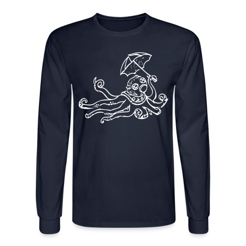 Octo Diver Long Sleeve Tako on Front - Men's Long Sleeve T-Shirt
