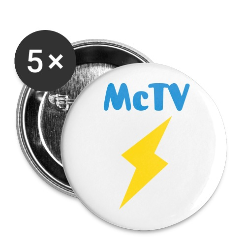 McTV Button Pins (5 Pack) - Large Buttons