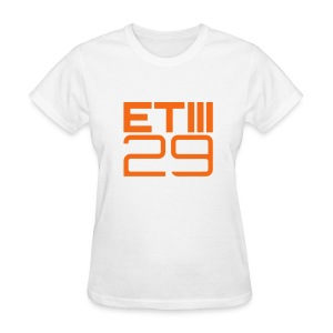 Easy Fit ETIII 29 (White/Orange) - Women's T-Shirt