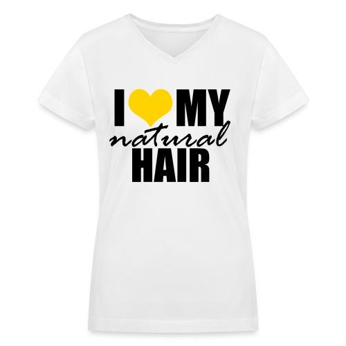 YELLOW V-Neck Women's T-shirt - Women's V-Neck T-Shirt