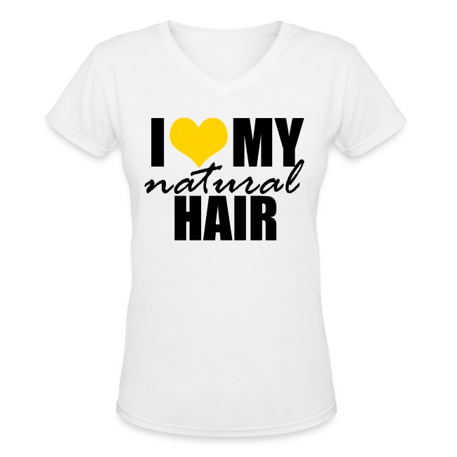 YELLOW V-Neck Women's T-shirt