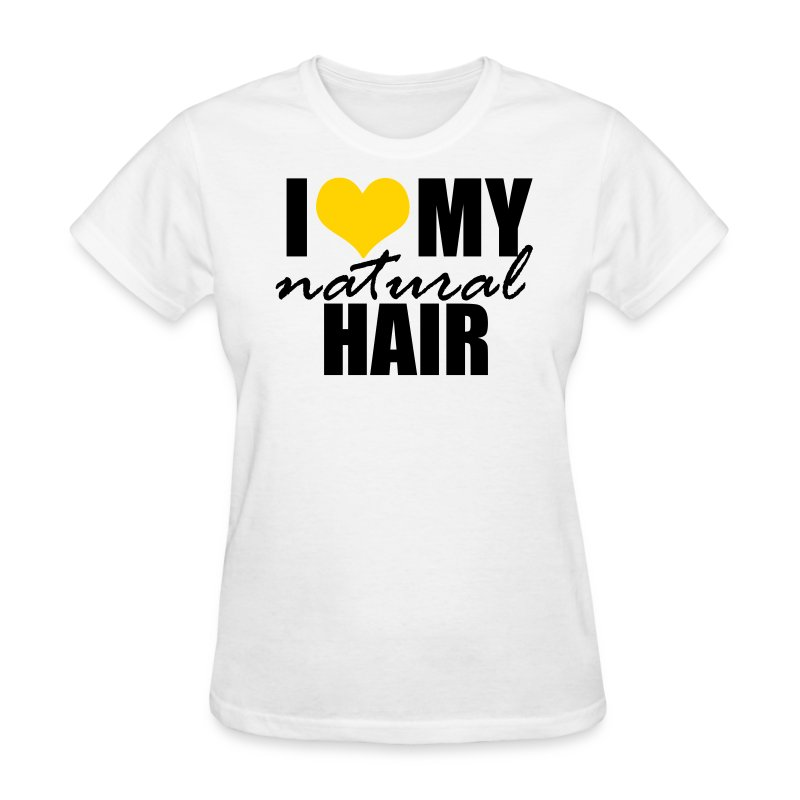 YELLOW I Love My Natural Hair Women's T-shirt - Women's T-Shirt