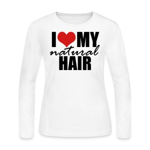 RED I Love My Natural Hair Long Sleeve T-shirt - Women's Long Sleeve Jersey T-Shirt