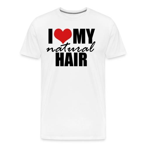 RED I Love My Natural Hair T-shirt (Curvy Girl Edition) - Men's Premium T-Shirt