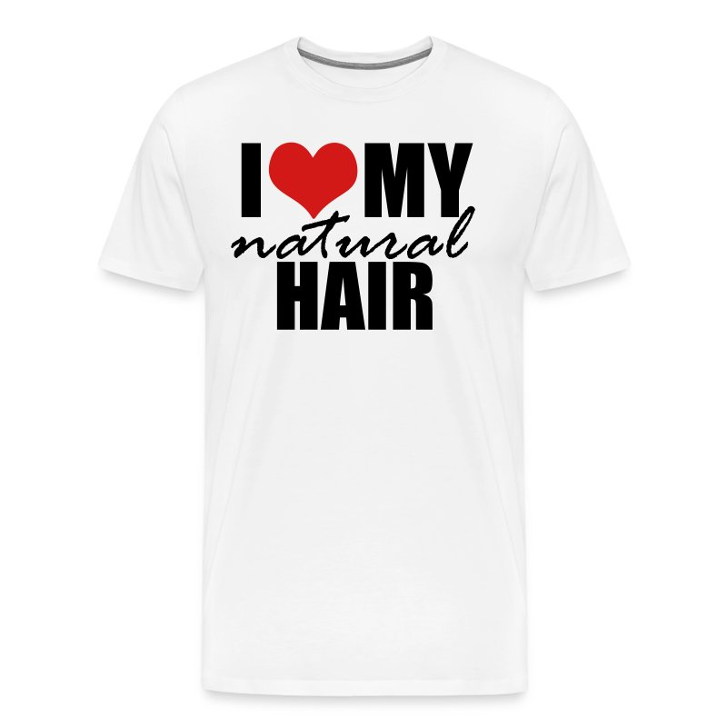 RED I Love My Natural Hair T-shirt (Curvy Girl Edition) - Men's Premium T-Shirt