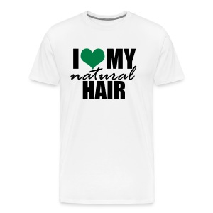 GREEN I Love My Natural Hair T-shirt (For Curvy Naturalistas) - Men's Premium T-Shirt