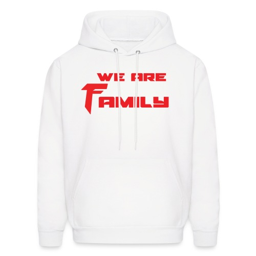 We Are Family Hoodie Red Text - Men's Hoodie
