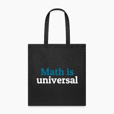 Math is universal Bags & backpacks