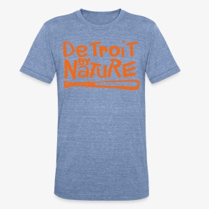 Detroit By Nature - Unisex Tri-Blend T-Shirt by American Apparel