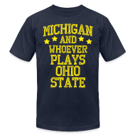 T-Shirts ~ Men's T-Shirt by American Apparel ~ Michigan  Ohio State