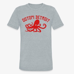 Octopi Detroit - Unisex Tri-Blend T-Shirt by American Apparel