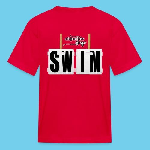 'SWIM' Lap Counter- Youth Tee - Kids' T-Shirt