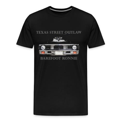 Mens Black Nova Front and Back Shirt  - Men's Premium T-Shirt