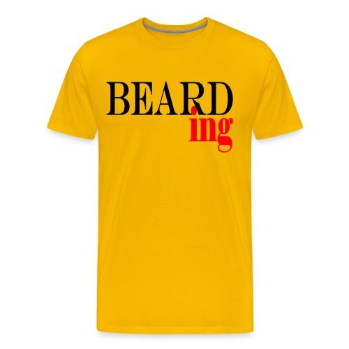 Beard Gains Bearding Premium Tee - Men's Premium T-Shirt
