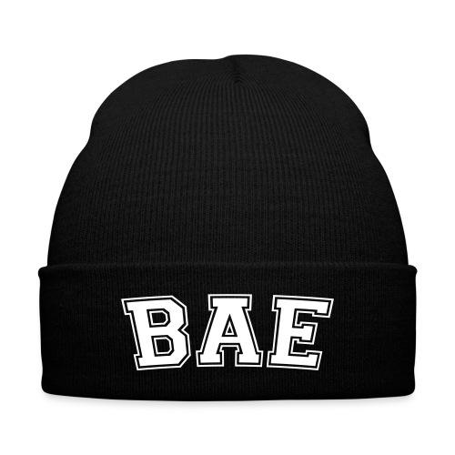 Bae - Knit Cap with Cuff Print