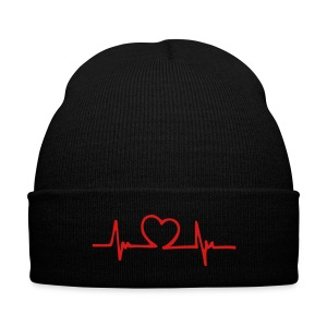 HeartBeat Logo Beanie - Knit Cap with Cuff Print