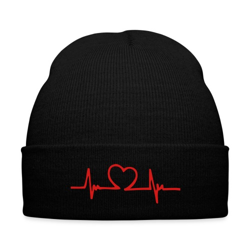 HeartBeat Logo Beanie - Knit Cap with Cuff Print