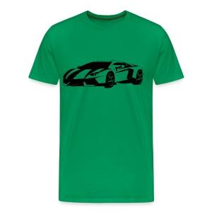 Lamborghini Aventador Line Art T-Shirt - Men's Premium T-Shirt