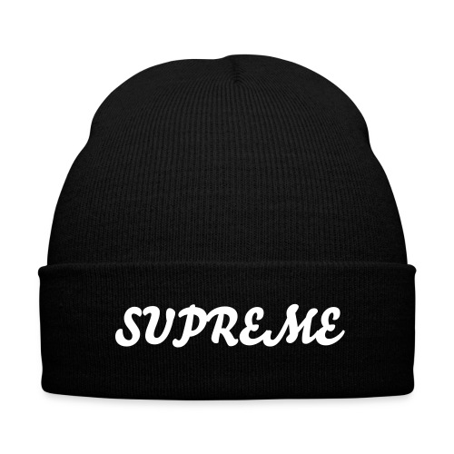 SUPREME - Knit Cap with Cuff Print