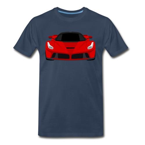 Red Ferrari LaFerrari - Simple Flat Art Shirt - Men's Premium T-Shirt