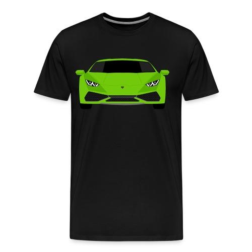 Green Lamborghini Huracan - Flat Art T-Shirt - Men's Premium T-Shirt