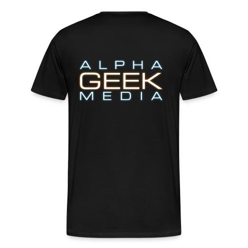 Back Logo - AGM Short-Sleeve Premium T-Shirt - Men's Premium T-Shirt